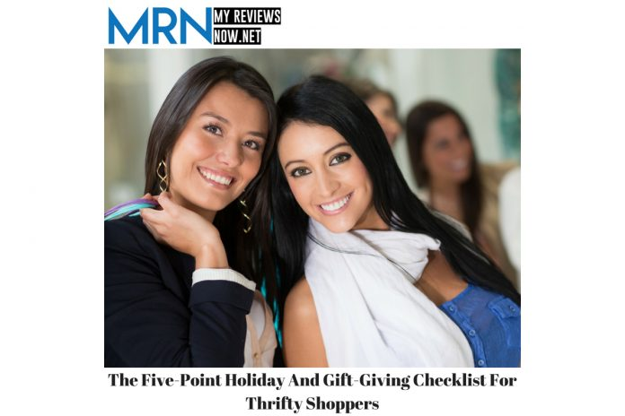 The Five-Point Holiday and Gift-Giving Checklist for Thrifty Shoppers